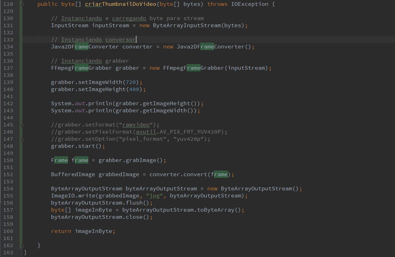 Extrair imagem (frame) de um vídeo em Java com JavaCV